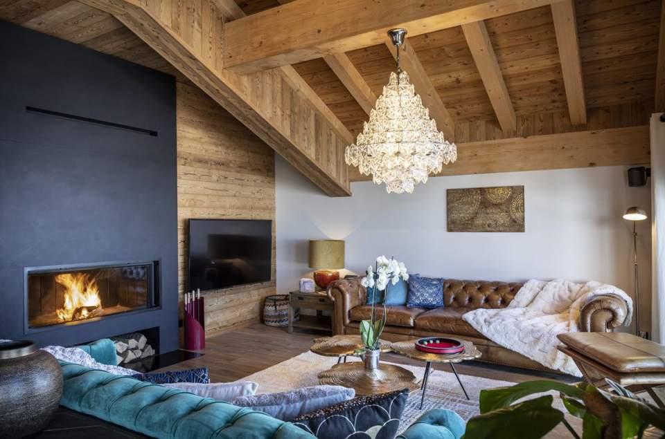 intérieurChalet de luxe Val Thorens,Les Chalets du Koh-I Nor· Chalets de Luxe Privatifs à Val Thorens, Les 3 Vallées
